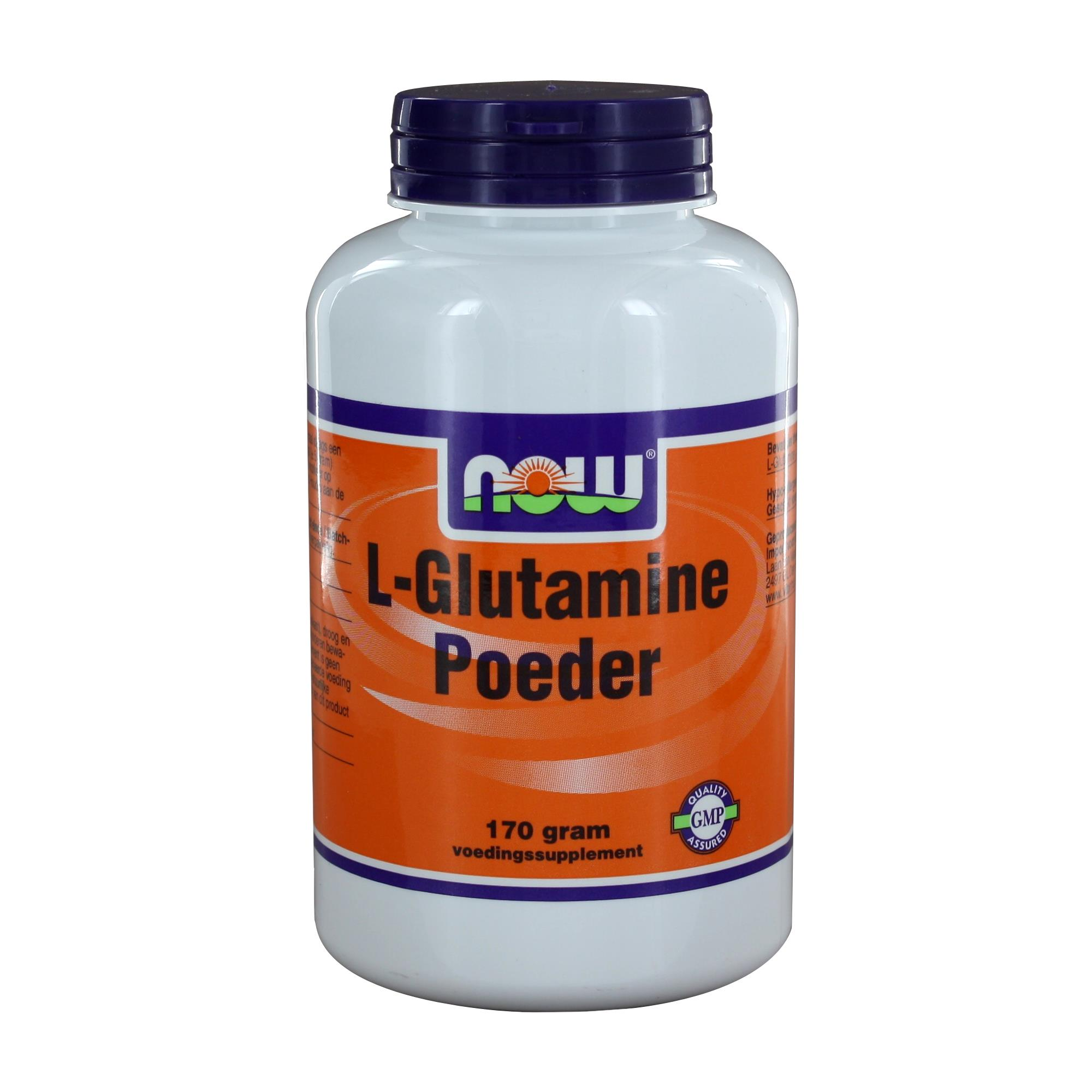 img 1071 - L-Glutamine Poeder (170 gram) - NOW Foods
