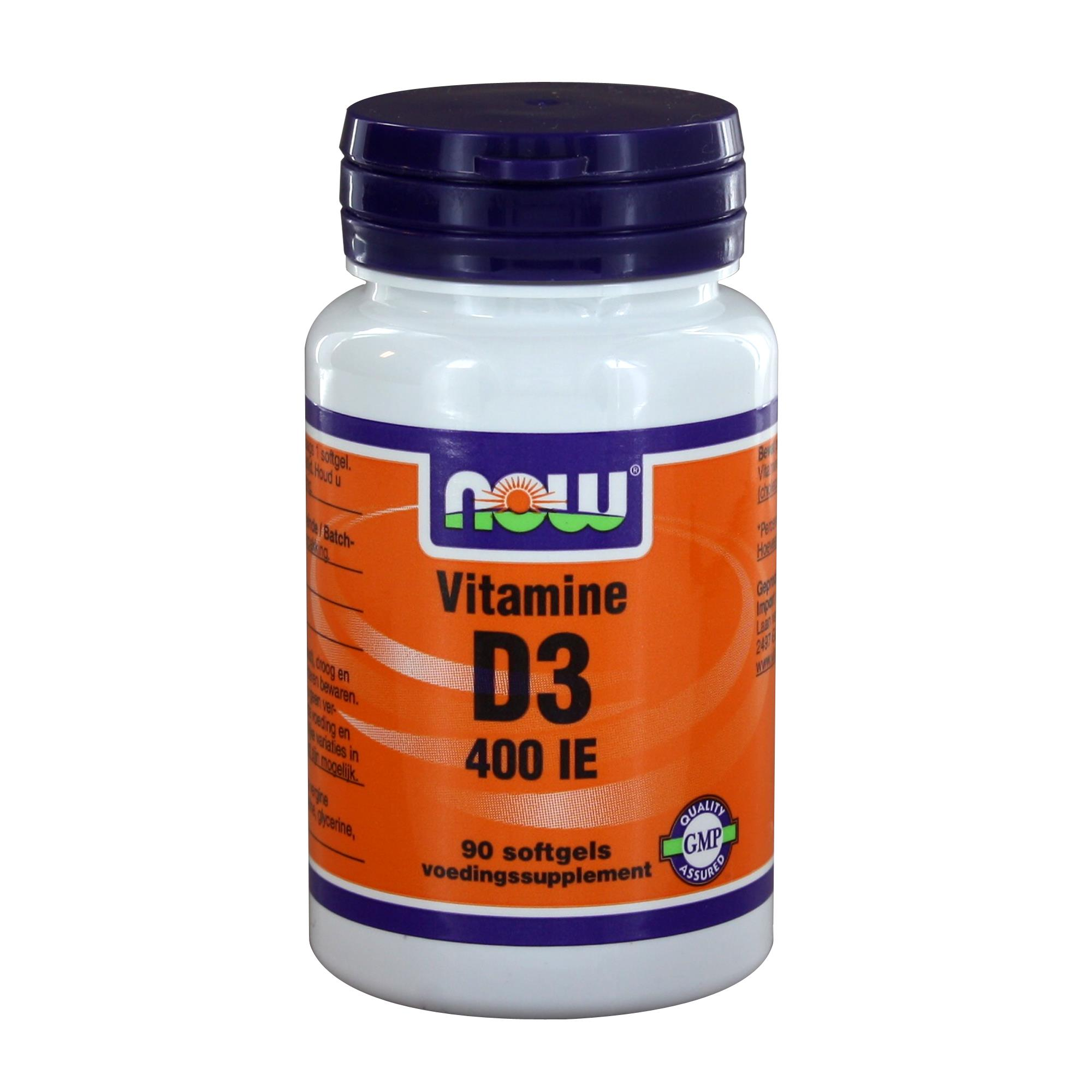 img 2401 - Vitamine D3 400 IE (90 softgels) - NOW Foods