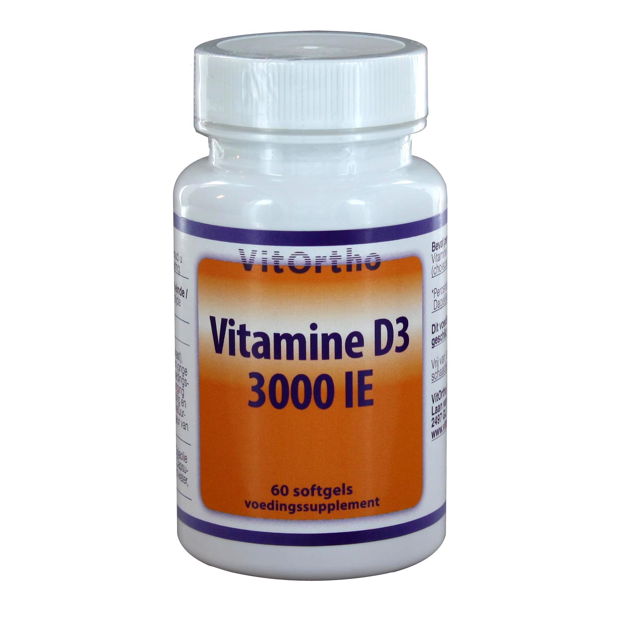 img 2408 - Vitamine D3 3000 IE (60 softgels) - VitOrtho