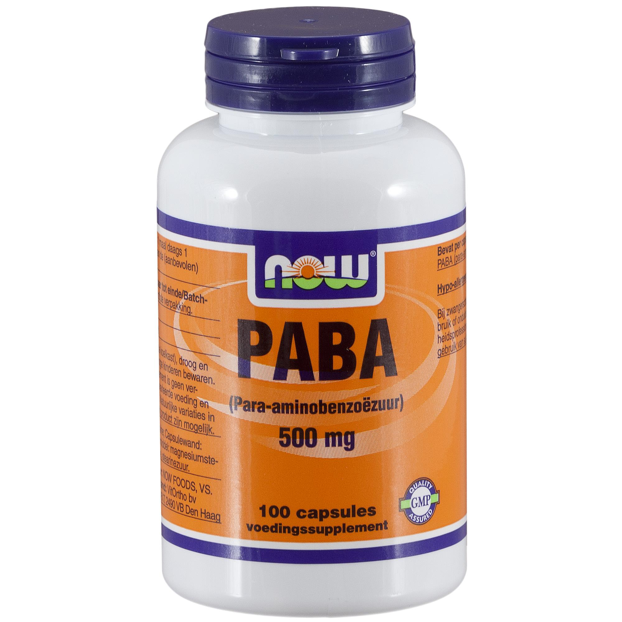 img 3280 - PABA 500 mg (100 caps) - NOW Foods