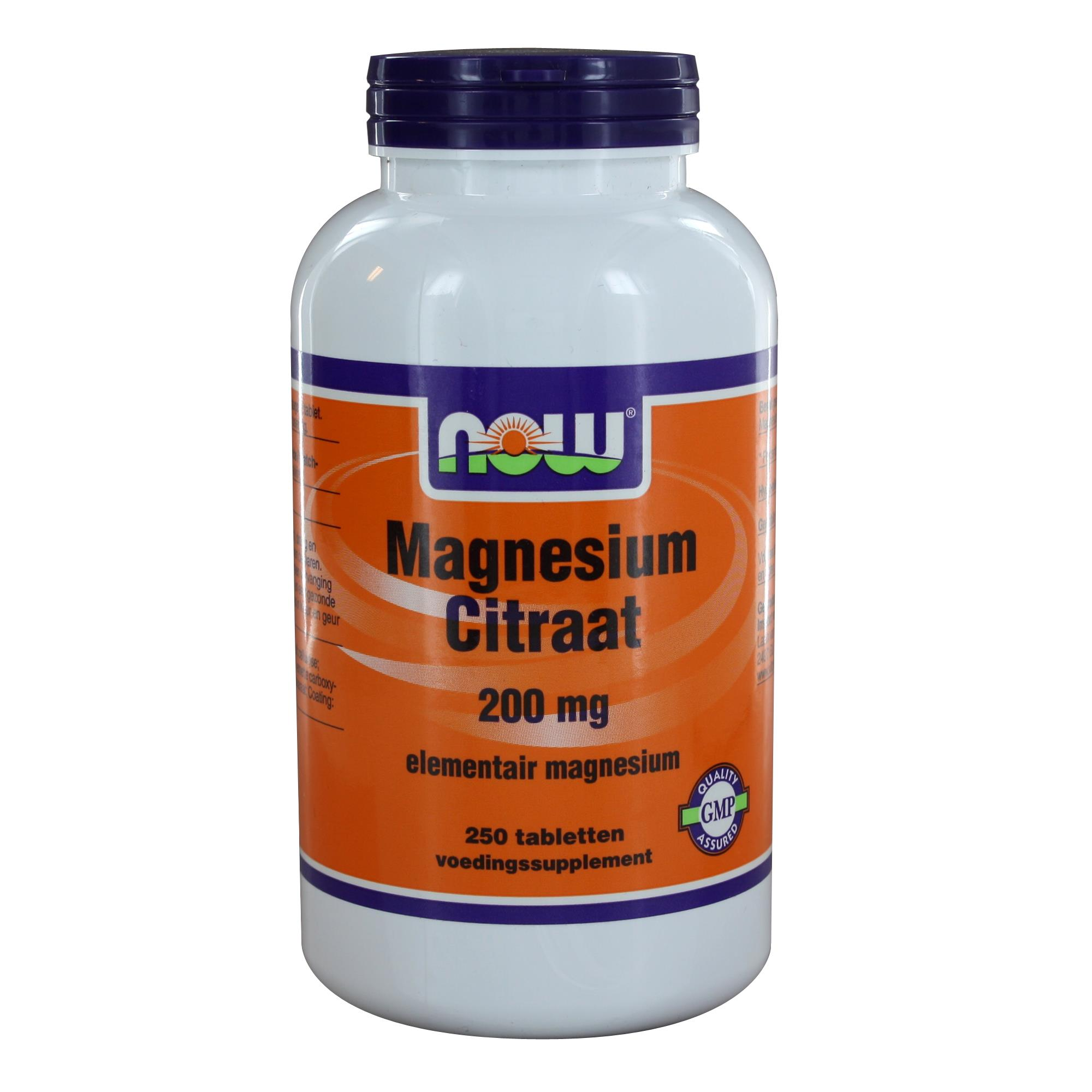 img 6509 - Magnesium Citraat 200 mg (250 tabs) - NOW Foods