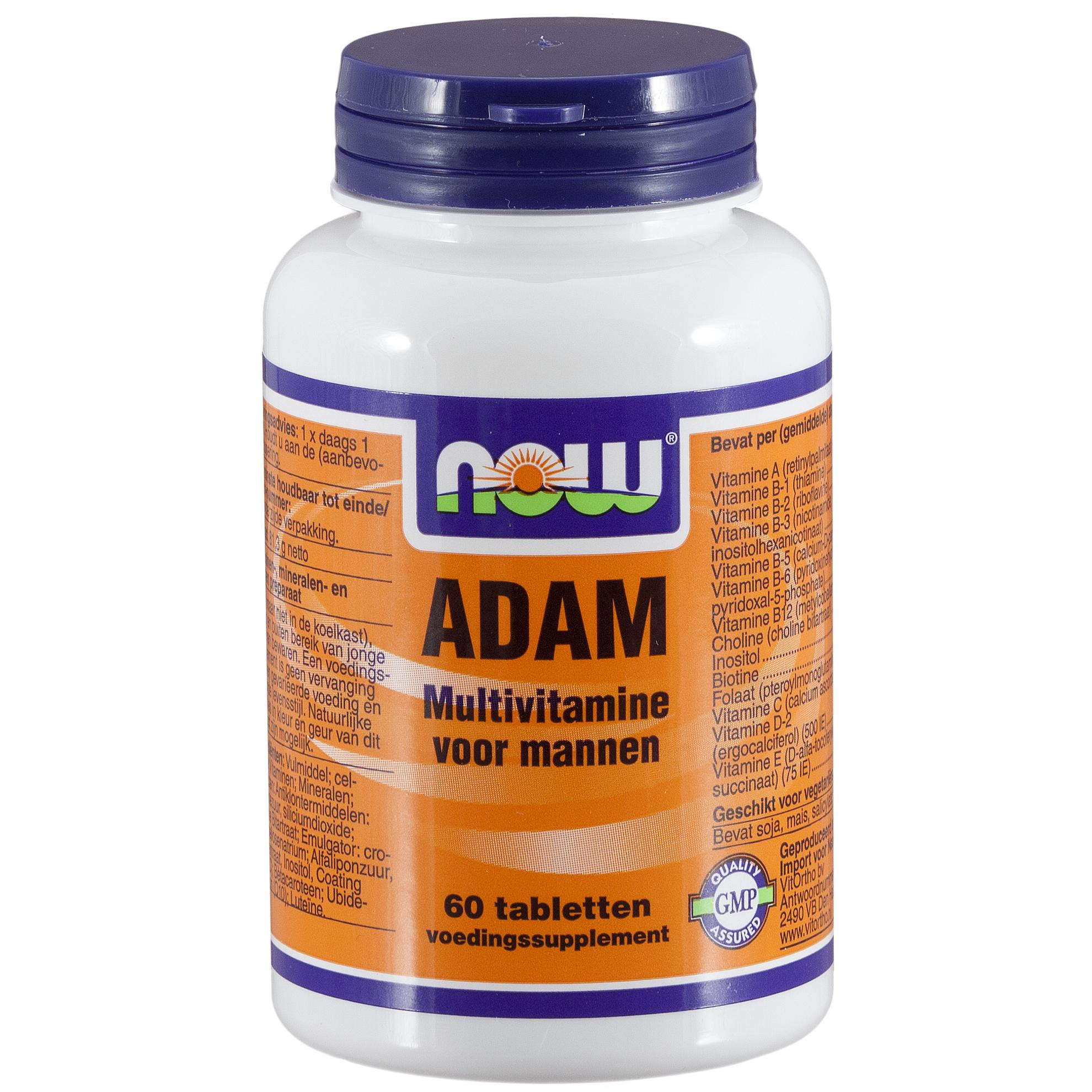 ADAM Multivitamine voor mannen (60 tabs) – Now Foods