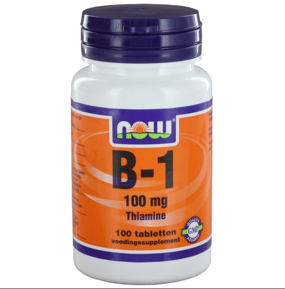 now foods b1 100mg 1 - B-1 100 mg (100 tabletten) - Now Foods