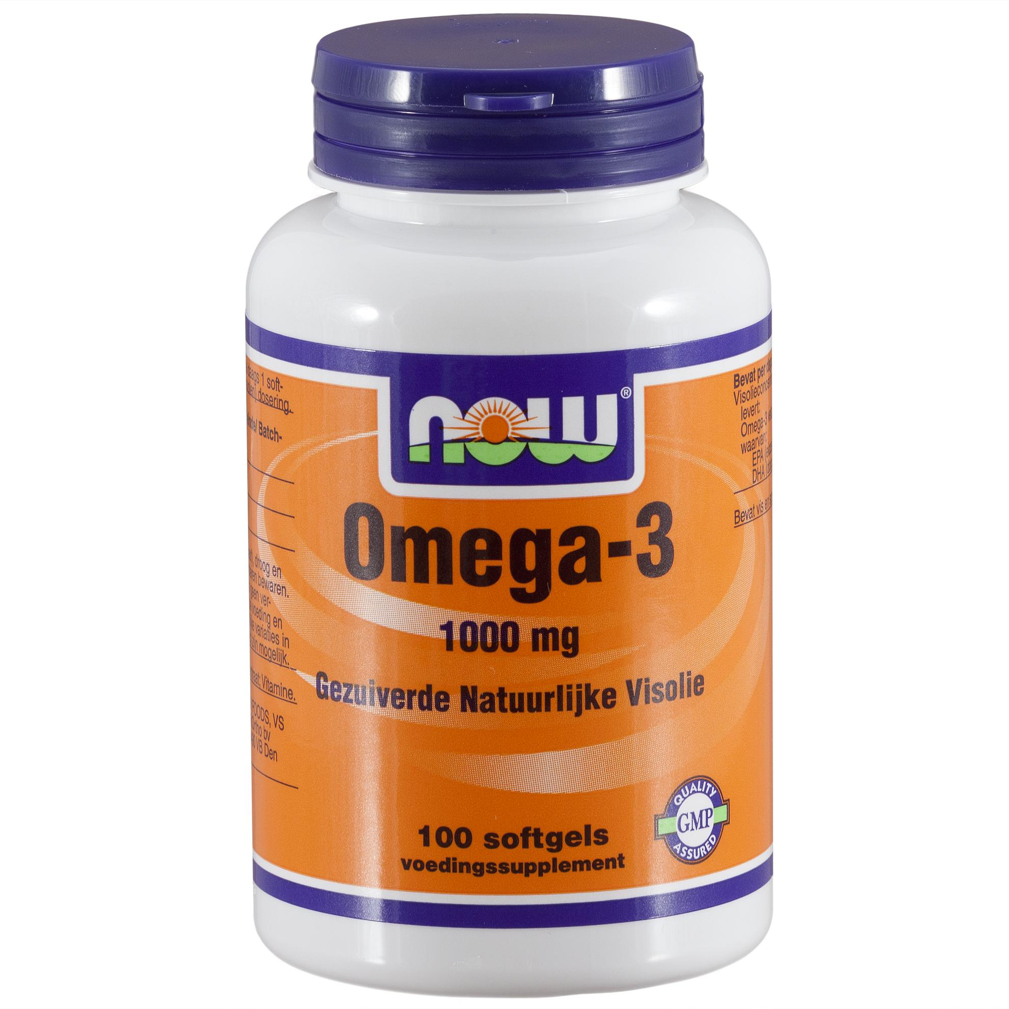 Omega-3 1000 mg (100 softgels) – Now Foods