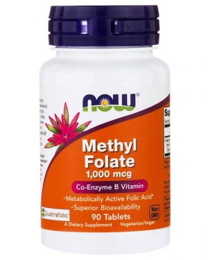1 56 300x375 - Methyl Folate- 1.000 mcg (90 tablets) - Now Foods