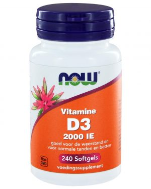 2412 300x375 - Vitamine D3 2000 IE (240 softgels) - NOW Foods