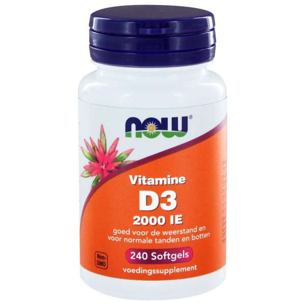 2412 600x600 - Vitamine D3 2000 IE (240 softgels) - NOW Foods