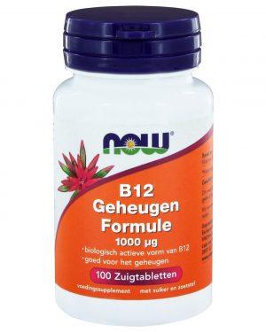 3292 300x375 - B12 Geheugen Formule 1000 µg (100 zuigtabs) - NOW Foods