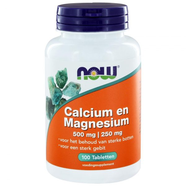 6230 7 600x600 - Calcium 500 mg en Magnesium 250 mg (100 tabs) - NOW Foods