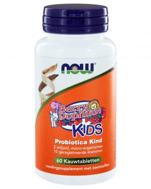 8323 300x375 - BerryDophilus™ KIDS Probiotica Kind (60 kauwtabs) - NOW Foods