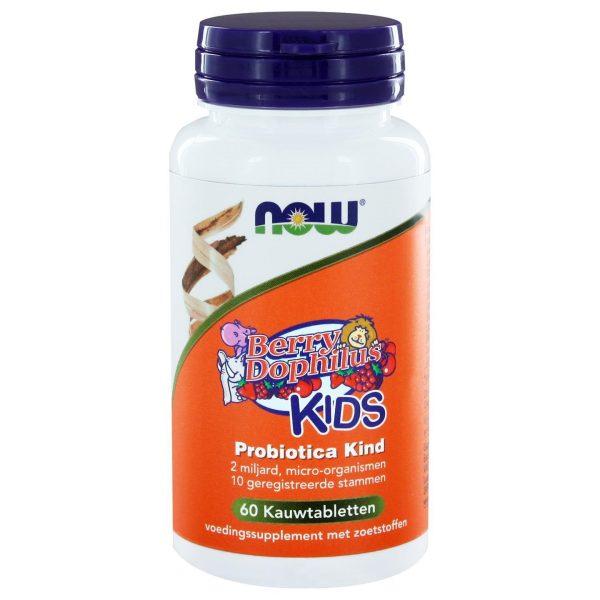 8323 600x600 - BerryDophilus™ KIDS Probiotica Kind (60 kauwtabs) - NOW Foods