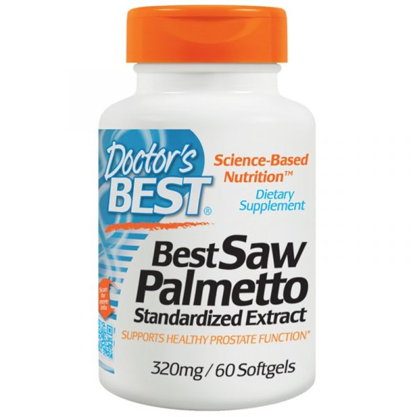DRB 00082 7 600x600 - Saw Palmetto Standardized Extract with Euromed 320 mg (60 Softgels) - Doctor's Best