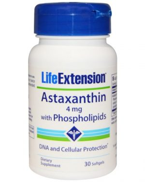 LEX 19233 1 300x375 - Astaxanthin with Phospholipids 4 mg (30 Softgels) - Life Extension