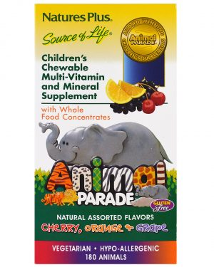 NAP 29982 2 1 300x375 - Children's Chewable Multi-Vitamin & Mineral, Assorted Flavors (180 Animals) - Nature's Plus