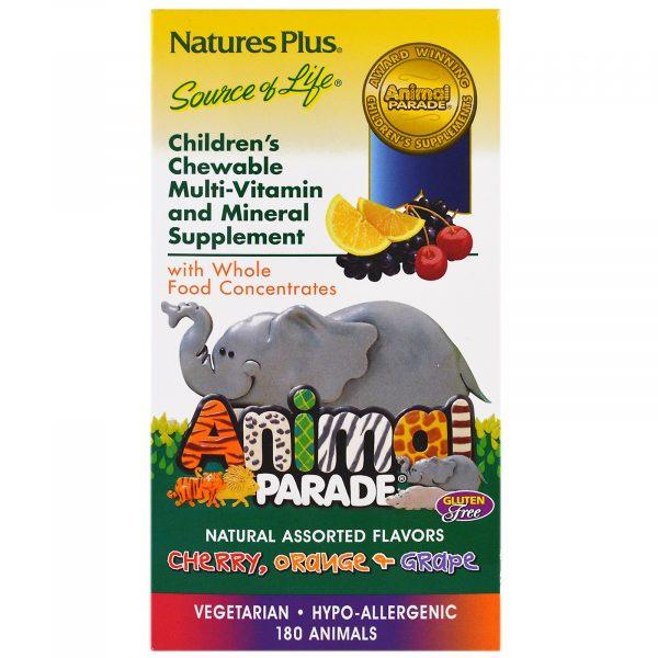 NAP 29982 2 1 600x600 - Children's Chewable Multi-Vitamin & Mineral, Assorted Flavors (180 Animals) - Nature's Plus