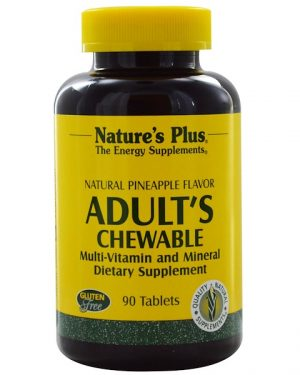 adult s chewable multi vitamin and mineral   natural pineapple flavor 90 tablets   nature s plus1 300x375 - Adult's Chewable Multi-Vitamin and Mineral - Natural Pineapple Flavor (90 Tablets) - Nature's Plus