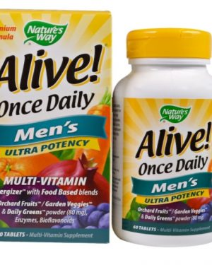 alive multi men 1 300x375 - Alive! Once Daily Men's Multi-Vitamin (60 Tablets) - Nature's Way