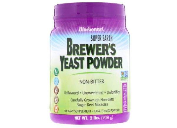 bluebonnet yeast 1 600x433 - Super Earth Brewer's Yeast Unflavored (908 g) - Bluebonnet Nutrition