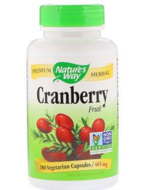 cranberry natures way 1 300x375 - Cranberry Fruit 465 mg (180 Vegetarian Capsules) - Nature's Way