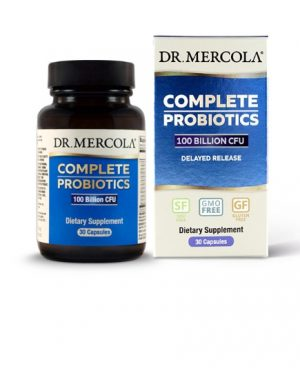 mercola probiotics 100billion 300x375 - Complete Probiotics 100 Billion CFU (30 Capsules) - Dr. Mercola