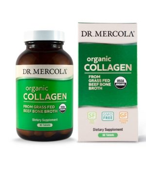 organic collagen mercola 300x375 - Collagen from Grass Fed Beef Bone Broth (90 capsules) - Dr. Mercola