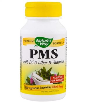 pms natures way 1 300x375 - PMS with B6 and Other B-Vitamins (100 Capsules) - Nature's Way