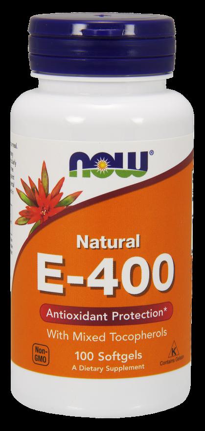 0892 1  - Vitamin E-400 IU (100 Softgels) - Now Foods