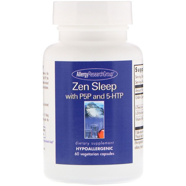 0 18 - Zen with P5P and 5-HTP 60 Vegetarian Capsules - Allergy Research Group