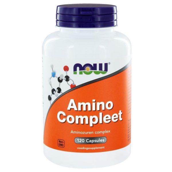 1001 600x600 - Amino Compleet (120 caps) - NOW Foods