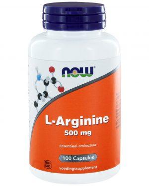 1020 300x375 - L-Arginine 500 mg (100 caps) - NOW Foods