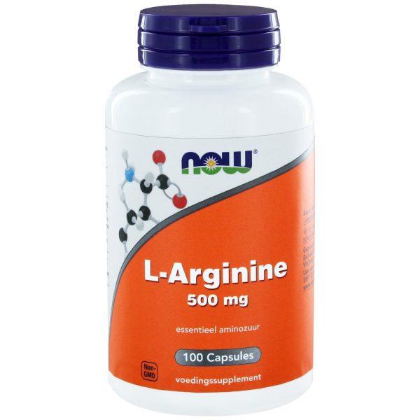 1020 600x600 - L-Arginine 500 mg (100 caps) - NOW Foods