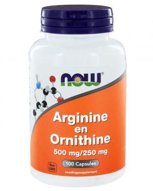 1030 300x375 - Arginine en Ornithine 500/250 mg (100 caps) - NOW Foods