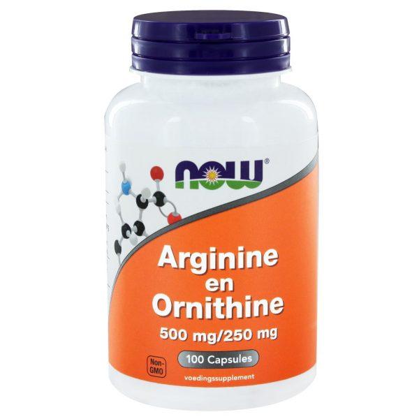 1030 600x600 - Arginine en Ornithine 500/250 mg (100 caps) - NOW Foods
