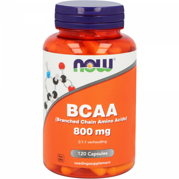 1041 600x600 - BCAA 800 mg (Branched Chain Amino Acids) (120 caps) - NOW Foods