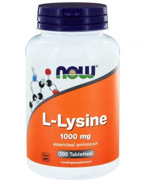 1082 300x375 - L-Lysine 1000 mg (100 tabletten) - Now Foods