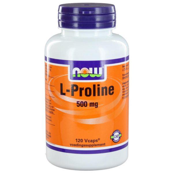 1105 600x600 - L-Proline 500 mg (120 vegicaps) - NOW Foods