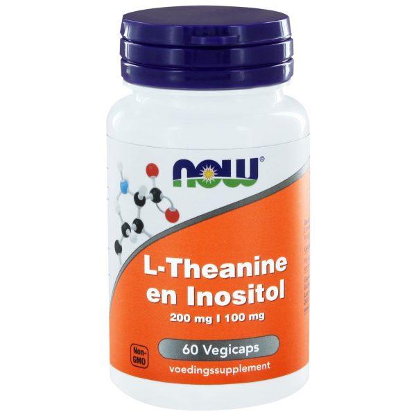 1116 600x600 - L-Theanine 200 mg en Inositol 100 mg (60 vegicaps) - NOW Foods