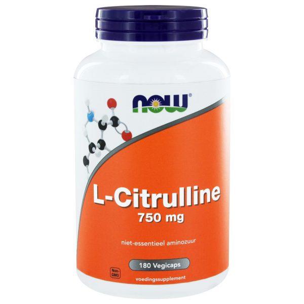 1132 600x600 - L-Citrulline 750 mg (180 vegicaps) - NOW Foods