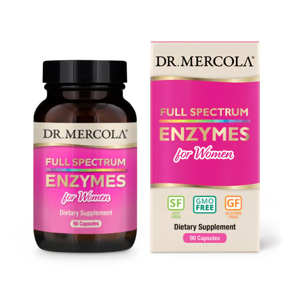 18 2425 Product Primary Image - Full Spectrum for Women Enzymes (90 Capsules) - Dr. Mercola