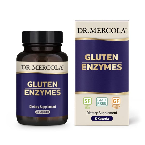 18 2428 Product Primary Image - Gluten Support Enzymes (30 Capsules) - Dr. Mercola