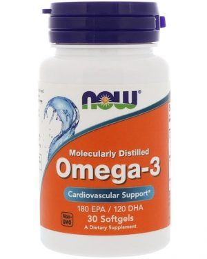 1 16 300x375 - Omega-3- Molecularly Distilled (30 softgels) - Now Foods