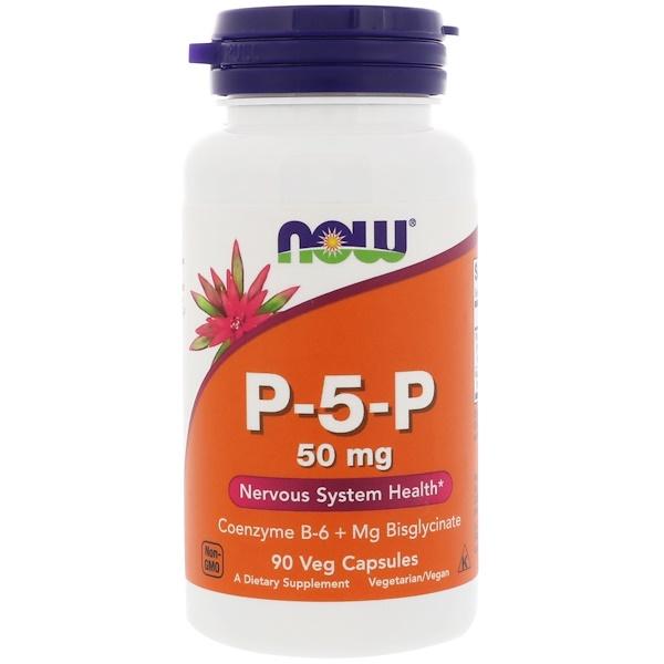 1 19 - P-5-P- 50 mg (90 Vegetarian Capsules) - Now Foods