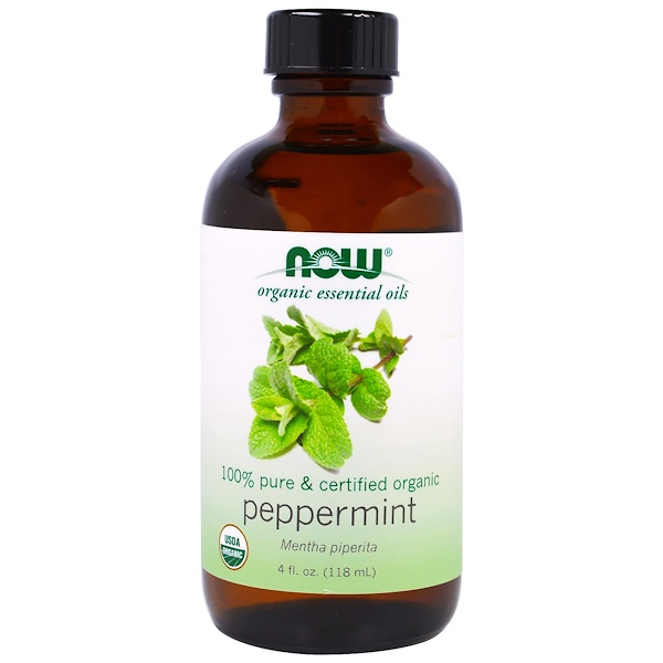 1 54 - Organic Essential Oils- Peppermint (118 ml) - Now Foods