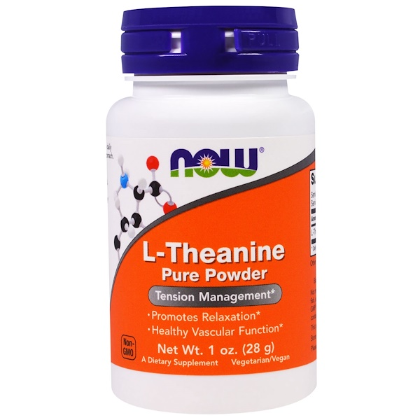 1 60 - L-Theanine- Pure Powder (28 gram) - Now Foods