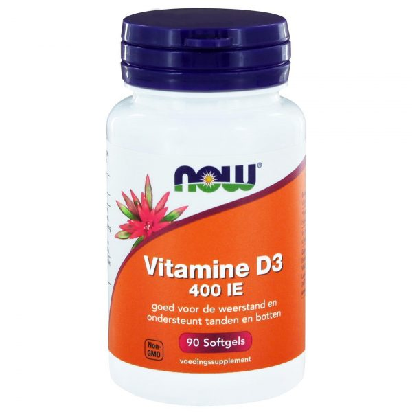 2401 600x600 - Vitamine D3 400 IE (90 softgels) - NOW Foods
