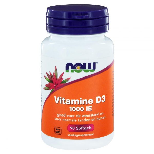 2403 600x600 - Vitamine D3 1000 IE (90 softgels) - NOW Foods