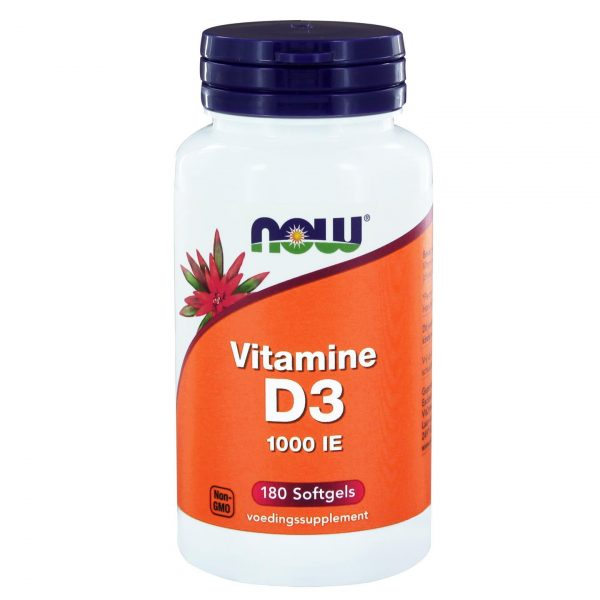 2404 600x600 - Vitamine D3 1000 IE (180 softgels) - NOW Foods