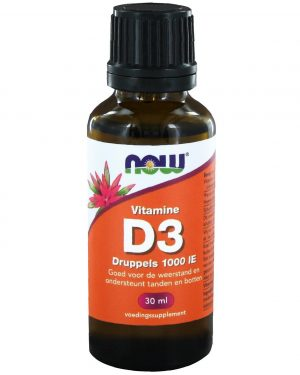2406 300x375 - Vitamine D3 druppels 1000 IE (30 ml) - NOW Foods