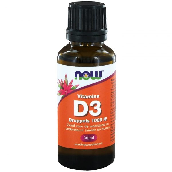2406 600x600 - Vitamine D3 druppels 1000 IE (30 ml) - NOW Foods