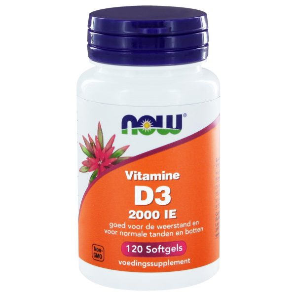 2411 600x600 - Vitamine D3 2000 IE (120 softgels) - NOW Foods